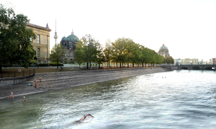 Flussbad Berlin Wants to Build an Enormous Natural Swimming Pool in the City's River